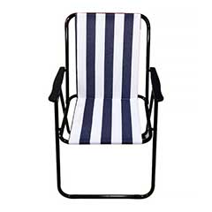 Picnic Camping Beach Armchair - Blue and White Stripe