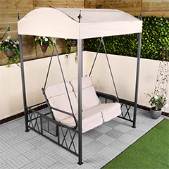 Ellister Cushioned 2 Seater Swing Gazebo