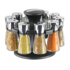Cole & Mason Hudson Herb and Spice Rack - 10 Jars Filled