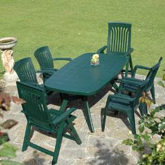 Europa Leisure Nardi 6 Armchair 165cm Rectangular Toscana  Dining Set