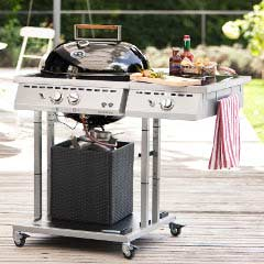 Outdoor Chef Gas Kettle Barbecue Cubic Line - Paris Deluxe 570 G - Onyx