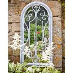 La Hacienda Scrolled Arch Mirror