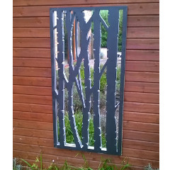 Birch Wall Panel Mirror - 2ft x 4ft