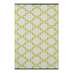 Solitude Celery Green and White Outdoor Rug