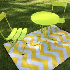 Psychedelia Yellow and White Outdoor Rug - 120 x 180cm