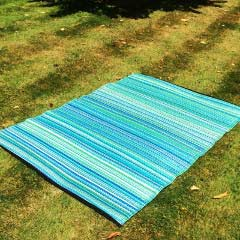 Stripes Blue and Green Shades Outdoor Rug - 120 x 180cm
