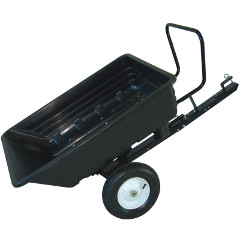 Handy 650lb Poly Body Towed Dump Cart Multi Purpose Cart