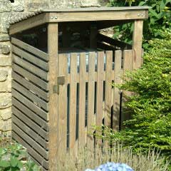 Garden Trading Wooden Single Wheelie Bin Cover