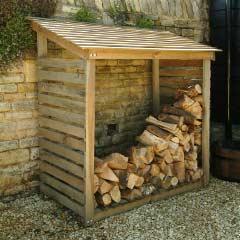 Garden Trading Wooden Log Store