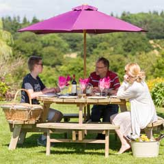 Zest 4 Leisure Rose FSC Round Picnic Table 135cm