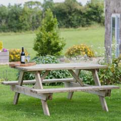 Zest 4 Leisure Katrina FSC Picnic Table 160cm
