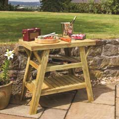 Zest 4 Leisure FSC Wooden BBQ Side Table