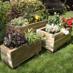 Zest 4 Leisure Gresford FSC Wooden Planter - Set of 3