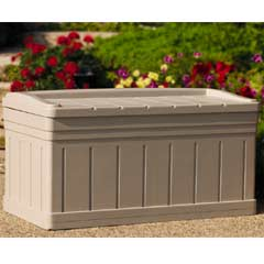 Suncast Resin Deck Box with Seat - 4.5 x 2ft