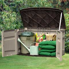 Suncast Resin Kensington One Horizontal Storage Shed 127cm