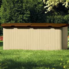 Suncast Resin Kensington Five Horizontal Storage Shed 223cm