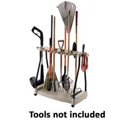 Suncast Resin Mobile Tool Rack