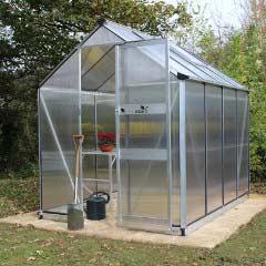 Eden Burford Zero Threshold Aluminium Frame Greenhouse - 6mm Polycarbonate Glazing