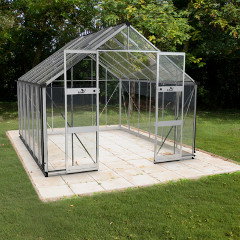 Eden Bourton Zero Threshold Aluminium Frame Greenhouse - Horticultural Glass