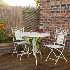 Ellister Gibraltar 2 Folding Chair 90cm Round Patio Set
