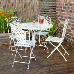 Ellister Gibraltar 4 Folding Chair 90cm Round Patio Set