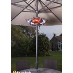 La Hacienda Heatmaster Electric Parasol Heater 2000W