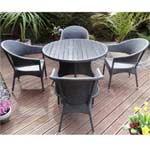 Rondeau Leisure Lerida Polywood & Rattan Dining Set