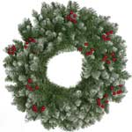 Festive Frosted Berry Wreath 60cm