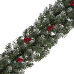 Festive Frosted Berry Garland 240cm