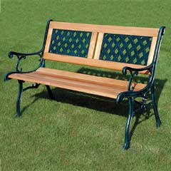 Kingfisher 2 Seater 118cm Wooden Bench