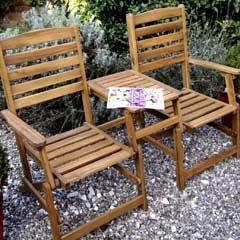Rondeau Leisure Kent Acacia Folding 158cm Companion Seat