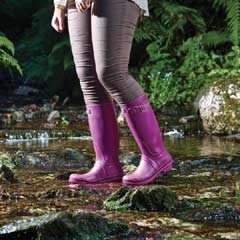 Briers Classic Rubber Look PVC Wellie Boot - Purple