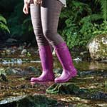 Briers Classic Rubber Look PVC Boot - Purple