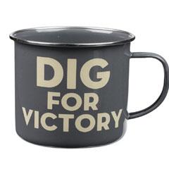 Thoughtful Gardener Enamel Mug - Dig for Victory