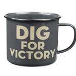 Thoughtful Gardener Enamel Mug - Dig for Victory