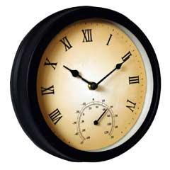 Garden Clock & Thermometer
