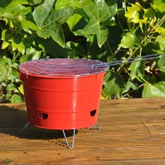 Portable Bucket BBQ with Carry Handle
