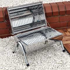 Portable Stainless Steel Barrel BBQ