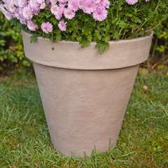 Terra Clay-Look Round Plant Pot - 40cm diameter