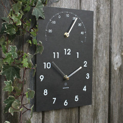 Eco Classical Clock with Thermometer