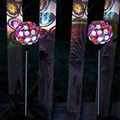 Smart Garden Multi-Glow Gem Solar Stake Lights - Set of 2