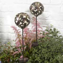 Smart Garden Butterfly Silhouette Globe Solar Stake Lights - Set of 2