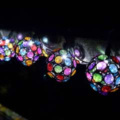 Smart Garden Multi-Glow Gems Solar Light String - 10 Globes