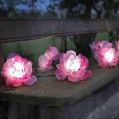 Smart Garden Pink Rose  Solar Light String - 10 Roses