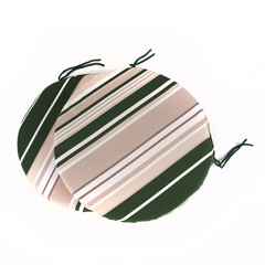 Greenfingers Striped Round Seat Cushion 39cm - Set of 2