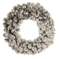Christmas Snowy Emperor Wreath - 60cm