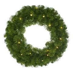 Christmas Pre-Lit Emperor Wreath - 60cm