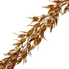 Christmas Gold Glitter Walnut Garland - 1.8m