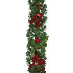 Christmas Poinsettia Garland - 1.8m