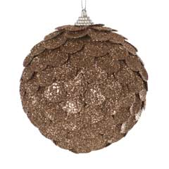 Christmas Baubles Champagne Sequin Ball - 10cm